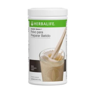 Malteada Número 1 Herbalife sabor Cookies & Cream