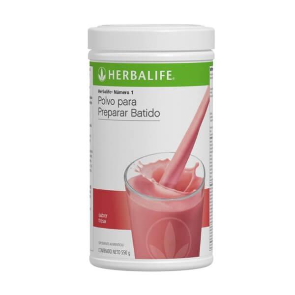 Malteada Número 1 Herbalife sabor Fresa