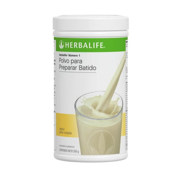 Malteada Número 1 Herbalife sabor Piña Colada