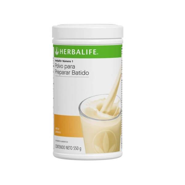 Malteada Número 1 Herbalife sabor Plátano