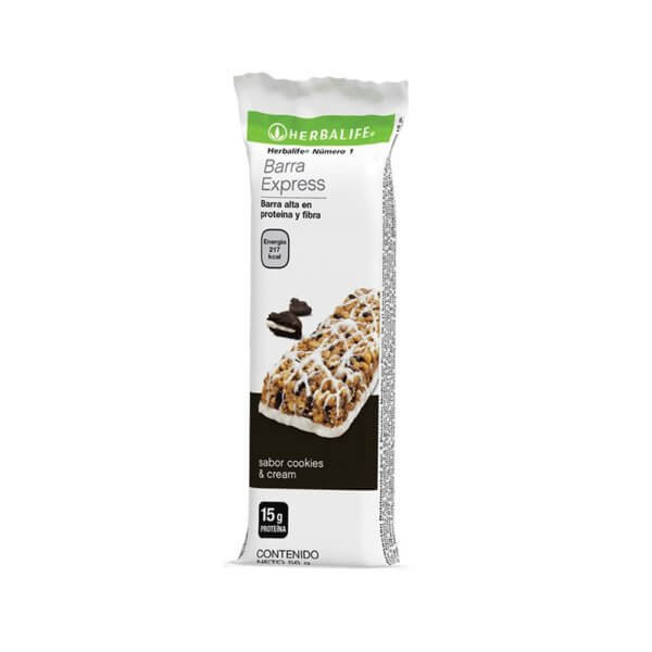 Barritas Número 1 Express Herbalife sabor Cookies and Cream