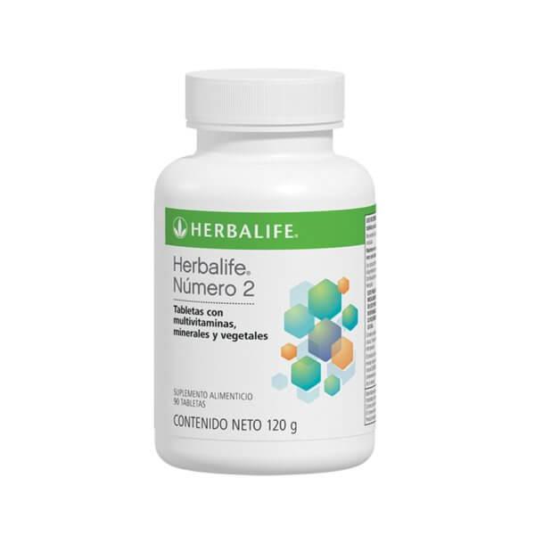 Número 2 Multivitaminas, minerales y vegetales 90 tab. Herbalife